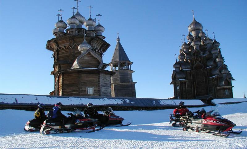 Россия, Сафари на снегоходах в Карелии
