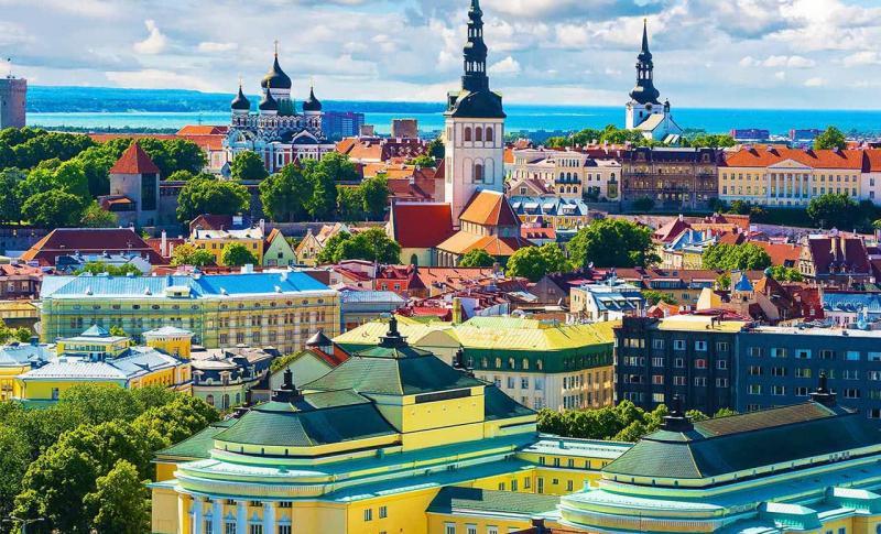 Эстония, панорама Таллина