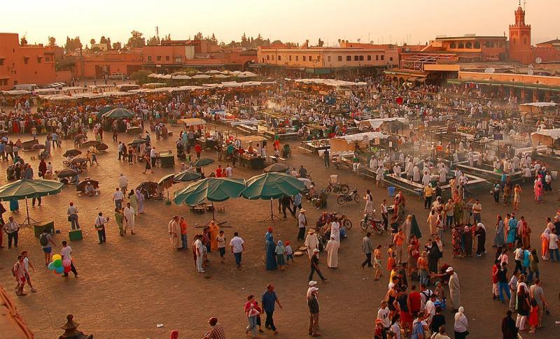 Марокко, Площадь Джемма эль-Фна в Марракеше