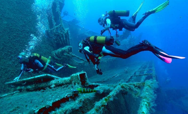 Айя-Напа, Займитесь дайвингом и посмотрите на затонувшие корабли