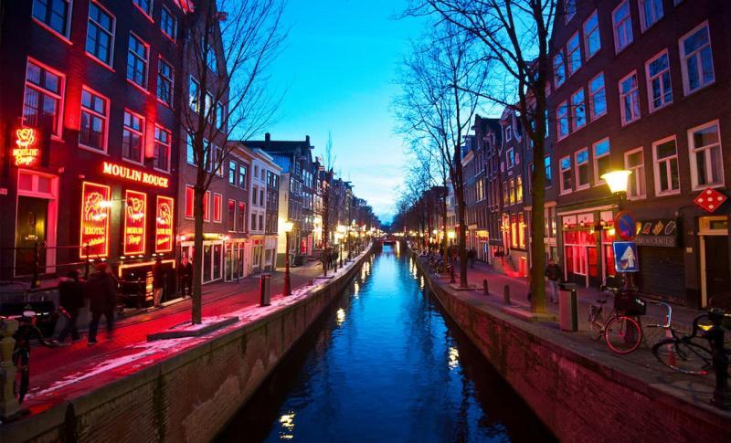 Амстердам, Квартал красных фонарей