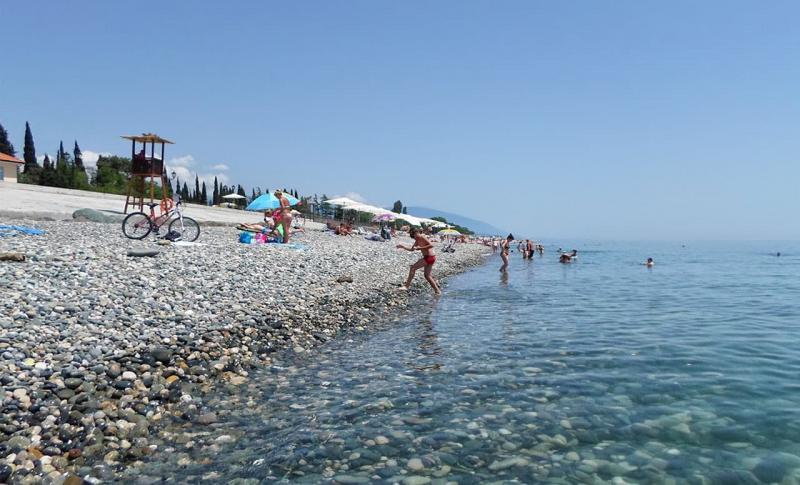 Сочи, Галечный пляж