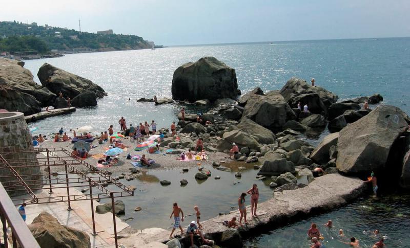 Алупка, детский пляж