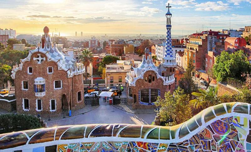 Испания, Парк Гуэль в Барселоне