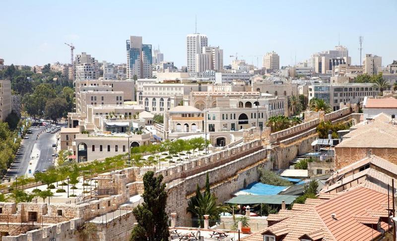 Израиль, Вид с горы Скопус на Иерусалим