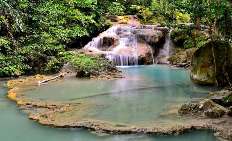 Таиланд, Водопад Эраван в Канчанабури