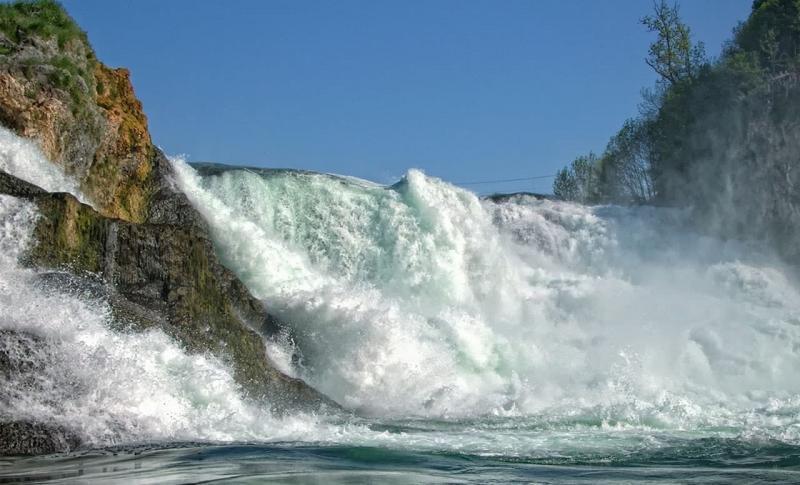 Швейцария Рейнский водопад