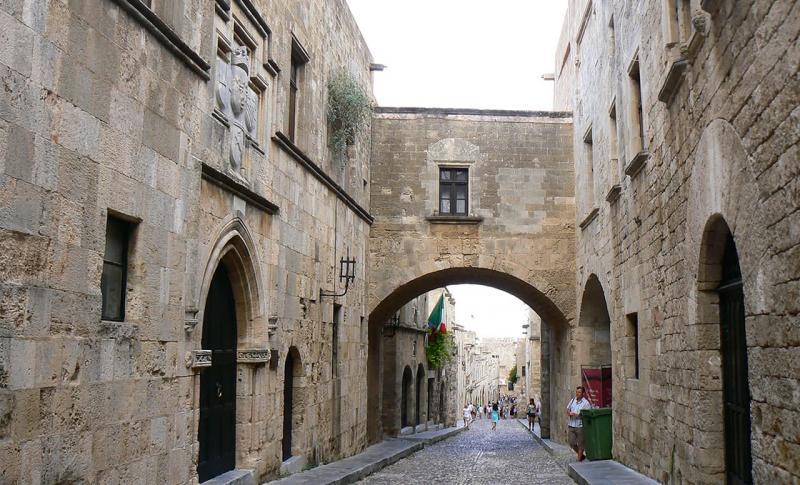 Родос, Улица Рыцарей в городе Родос