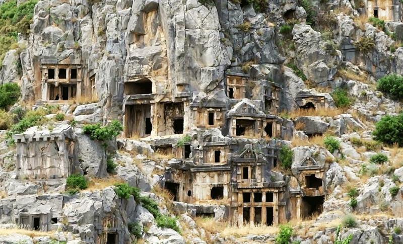 Турция, Ликийские гробницы