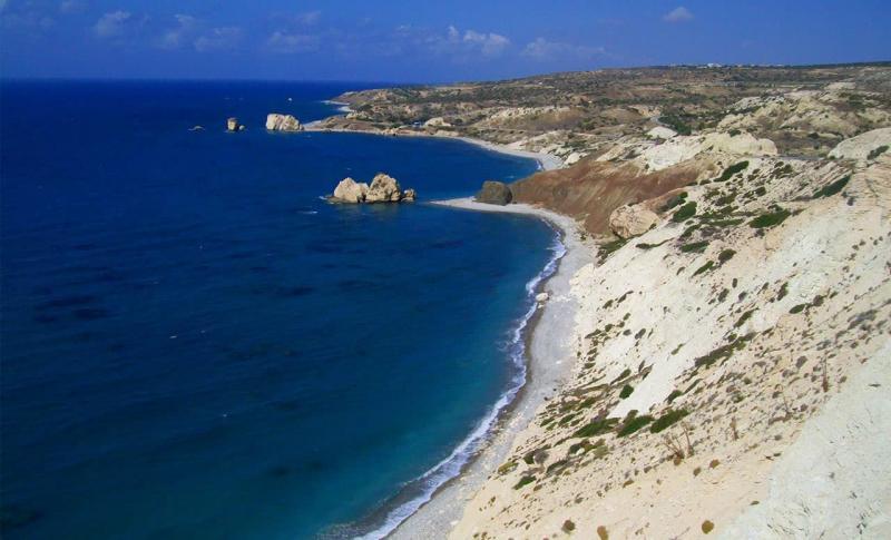 Кипр Пафос Пляж Петра-ту-Ромиу